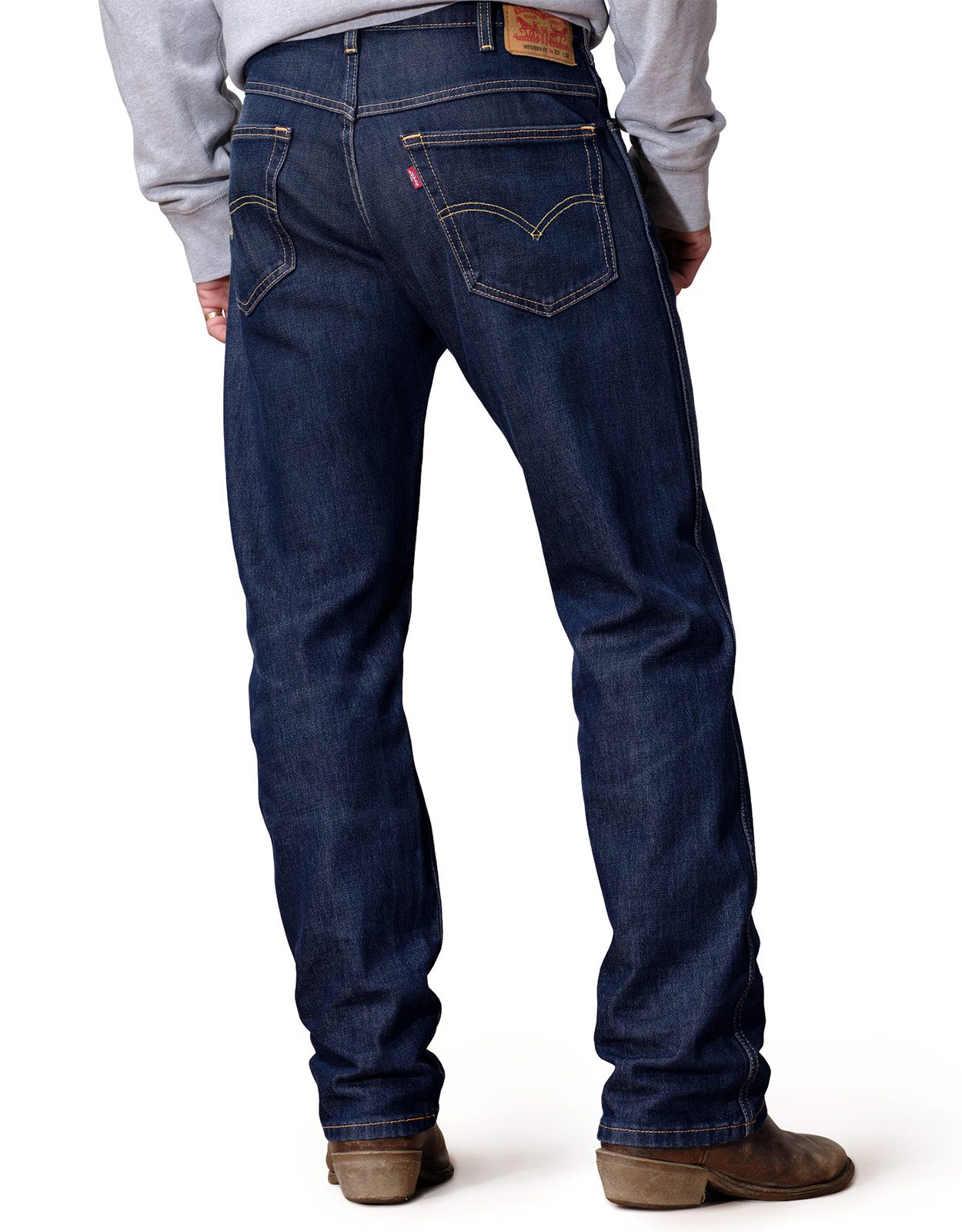 Levi's Men's Western Fit Stretch Mid Rise Regular Fit Straight Leg Jeans - On That Mountain