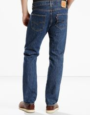 Levi's Men's 501 Original Mid Rise Regular Fit Straight Leg Jeans - Dark Stonewash