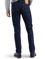 Levi's Men's 501 Original Mid Rise Regular Fit Straight Leg Jeans - Rinse