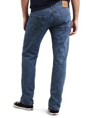 Levi's Men's 501 Original Mid Rise Regular Fit Straight Leg Jeans - Medium Stonewash