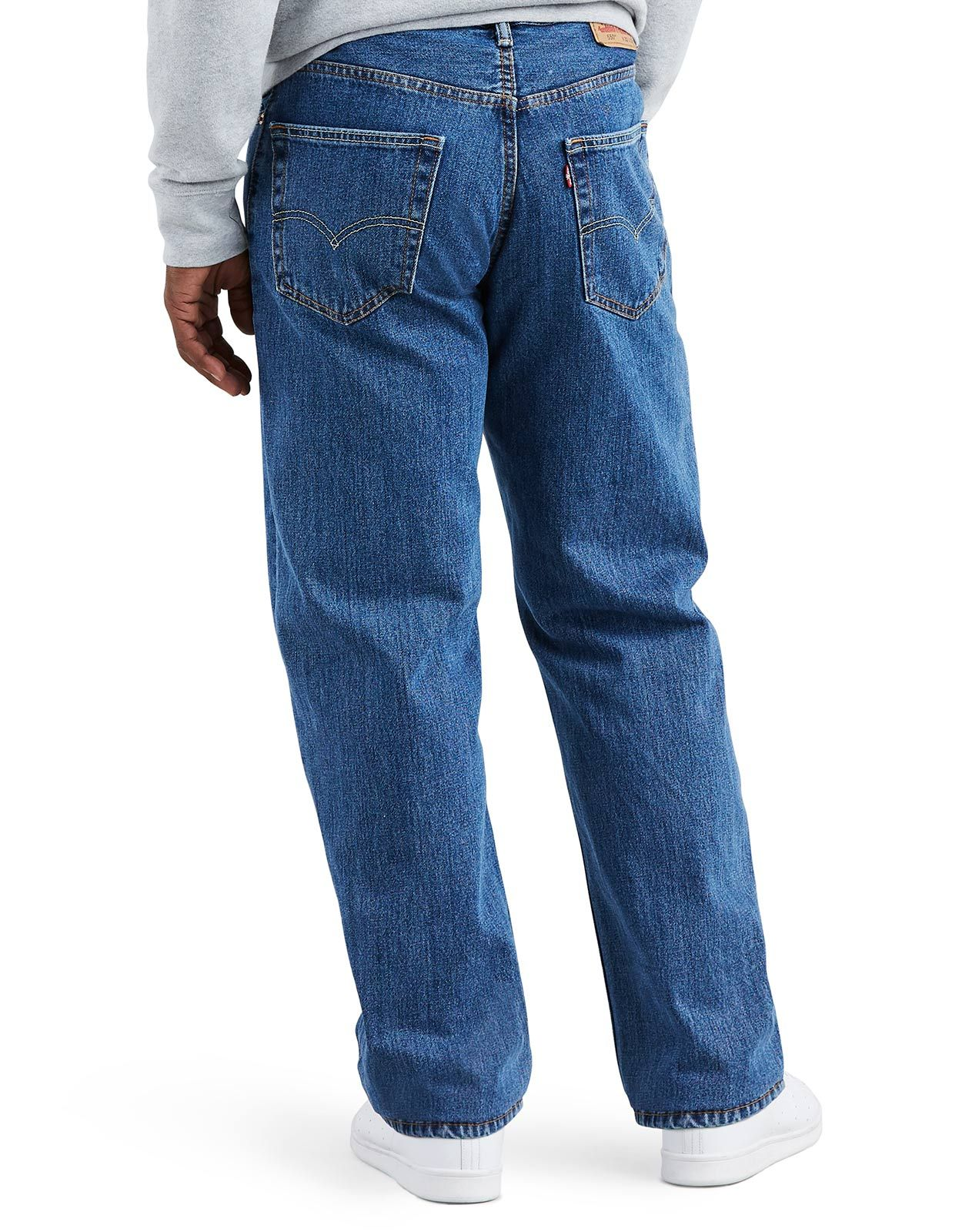Levi's Men's 550 Relaxed Mid Rise Relaxed Fit Tapered Leg Jeans - Medium Stonewash