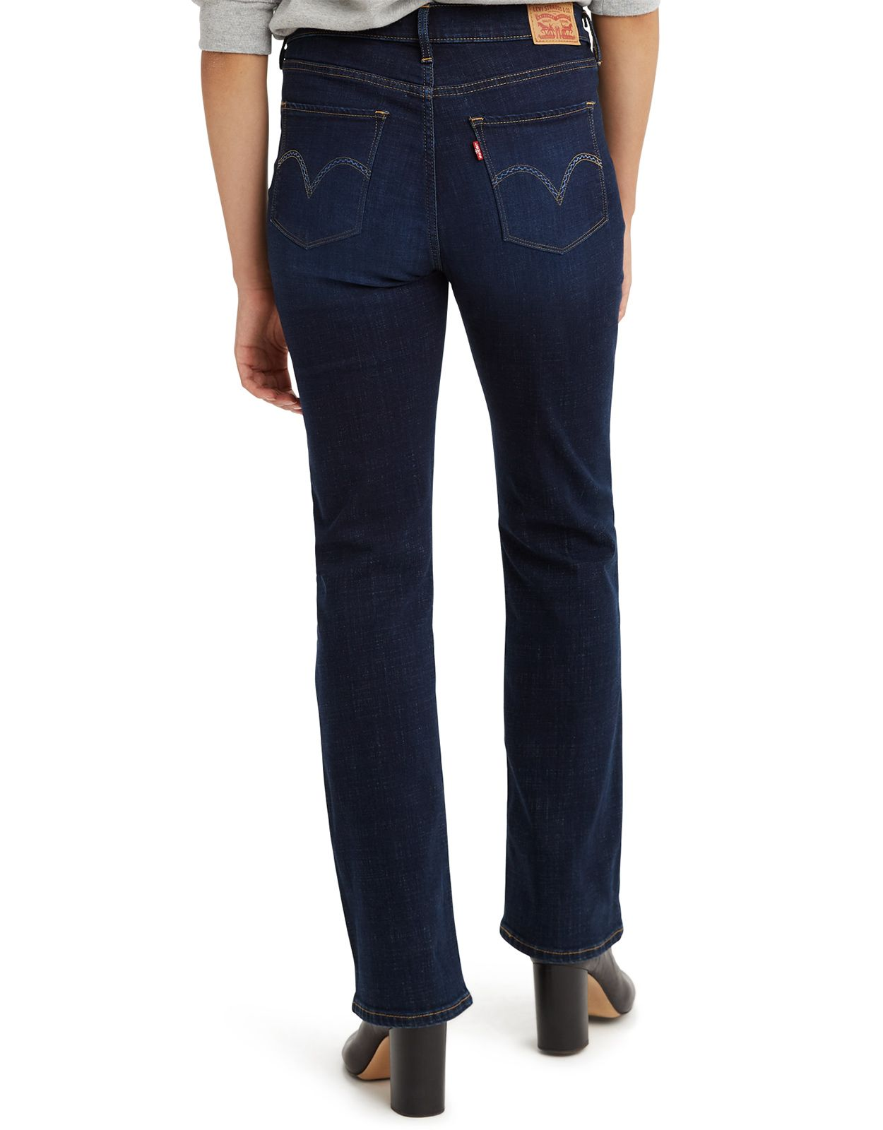 Levi's Women's Classic Bootcut Stretch Mid Rise Easy Fit Boot Cut Jeans - Cobalt Distress