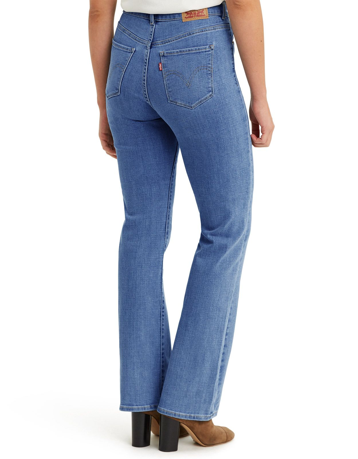 Levi's Women's Classic Bootcut Stretch Mid Rise Easy Fit Boot Cut Jeans - Lapis Sights