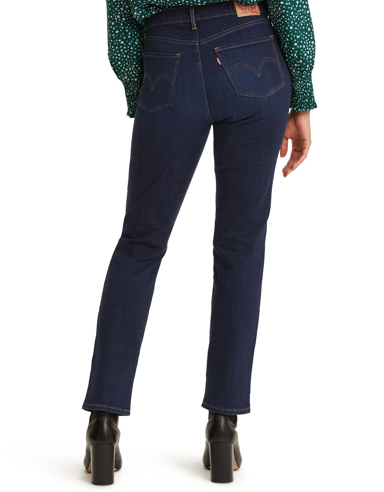 Levi's Women's Classic Straight Stretch Mid Rise Easy Fit Straight Leg Jeans - Cobalt Haze