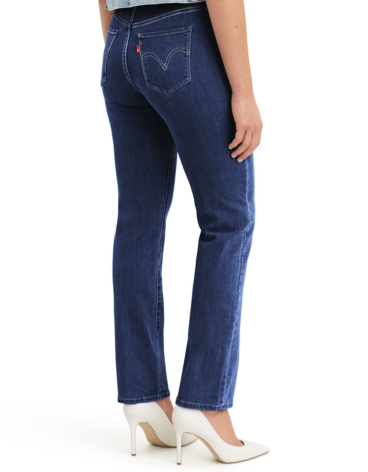Levi's Women's Classic Straight Stretch Mid Rise Easy Fit Straight Leg Jeans - Lapis Dark Horse
