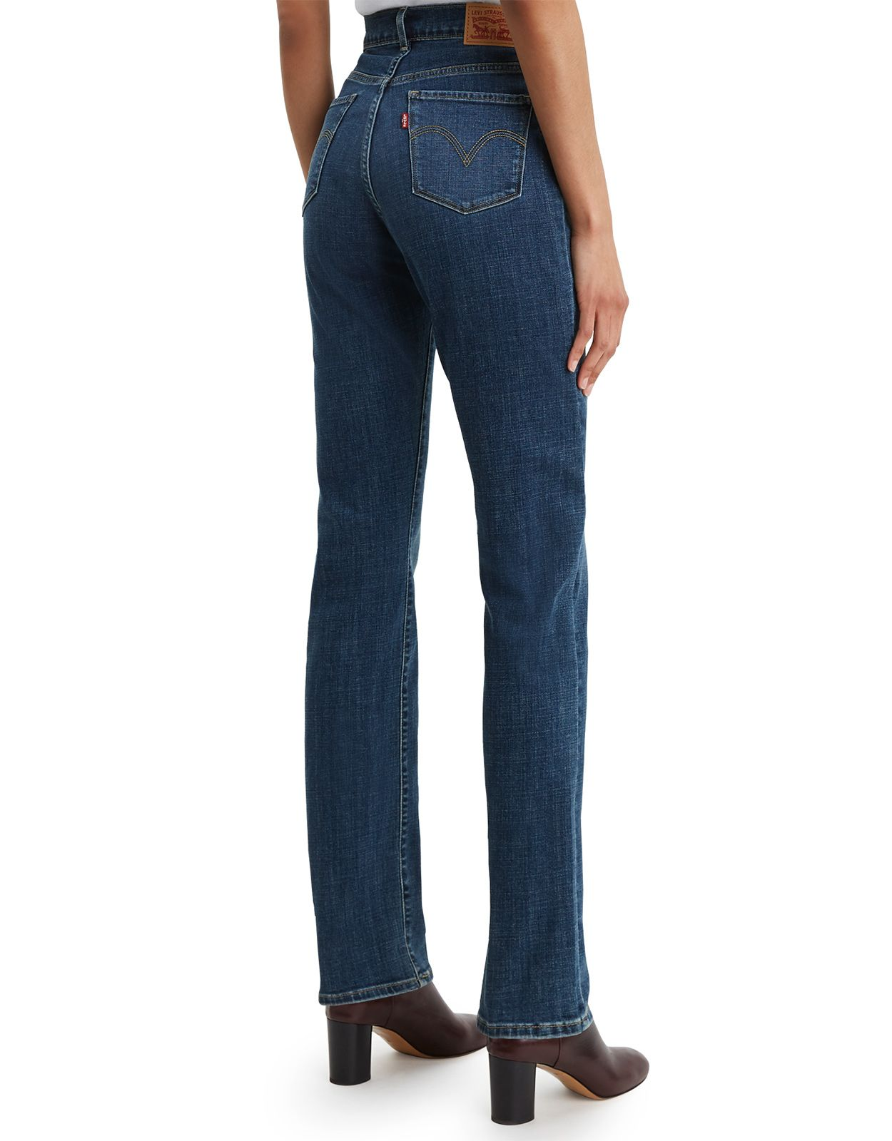Levi's Women's Classic Straight Stretch Mid Rise Easy Fit Straight Leg Jeans - Lapis Maui Waterfall