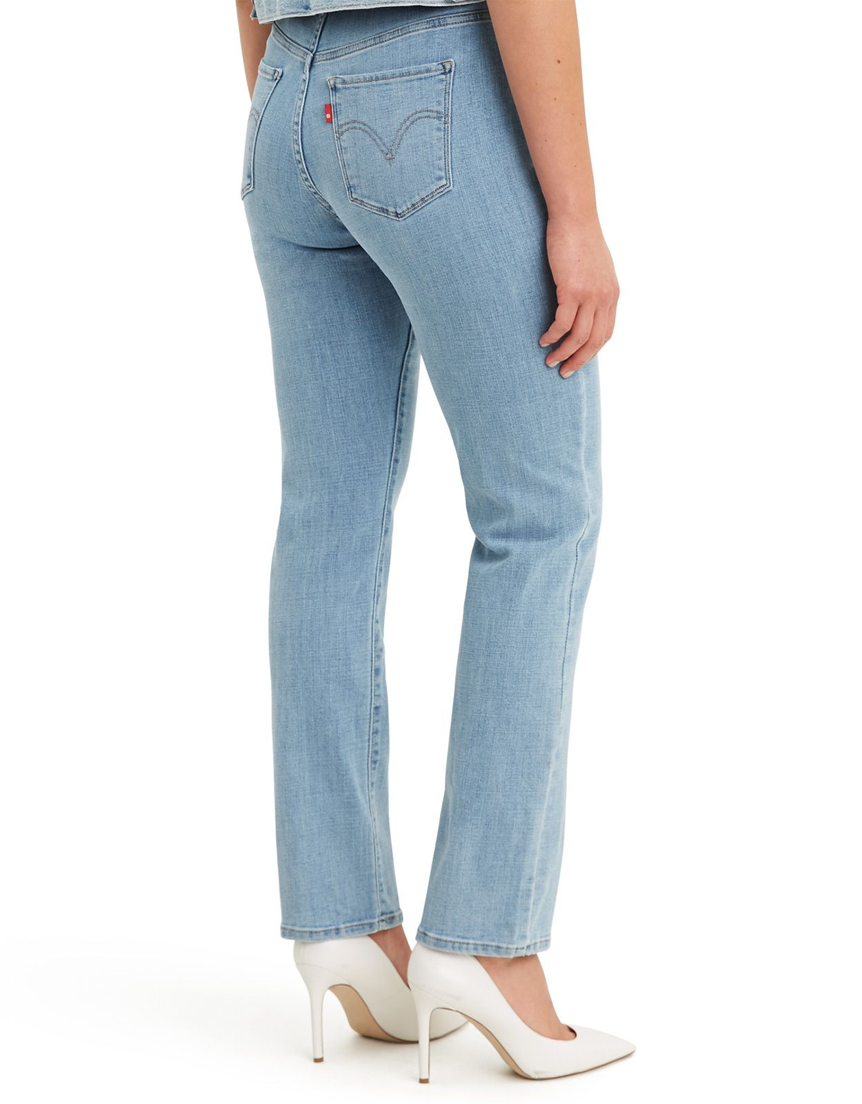 Levi's Women's Classic Straight Stretch Mid Rise Easy Fit Straight Leg Jeans - Slate Oahu Morning Dew