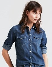 Levi's Women's Western Long Sleeve Denim Snap Shirt - Lotta Love