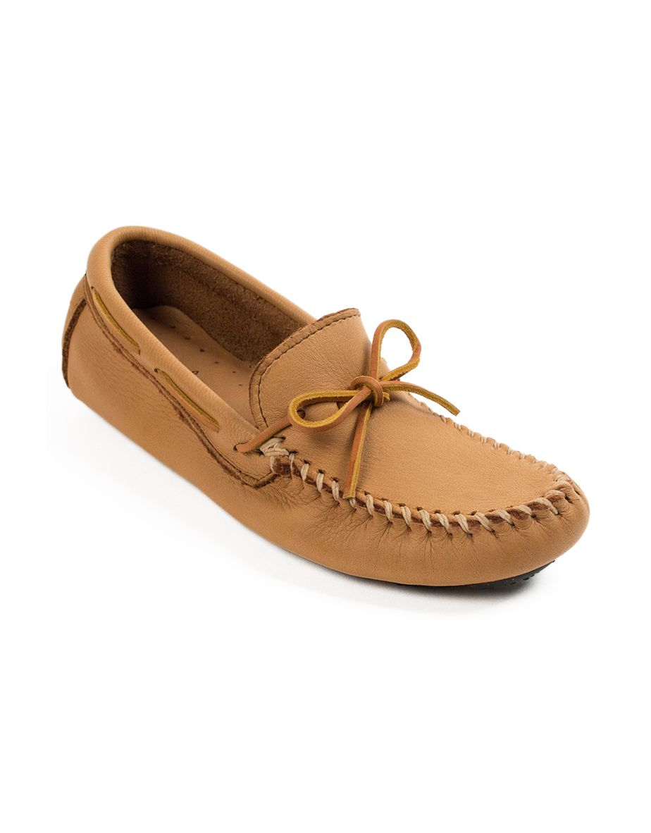 Minnetonka Moccasins - Men's Geniune Moose Driving Mocs - Natural