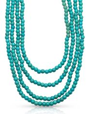Montana Silversmiths Attitude Women's Layered Bead Necklace - Turquoise