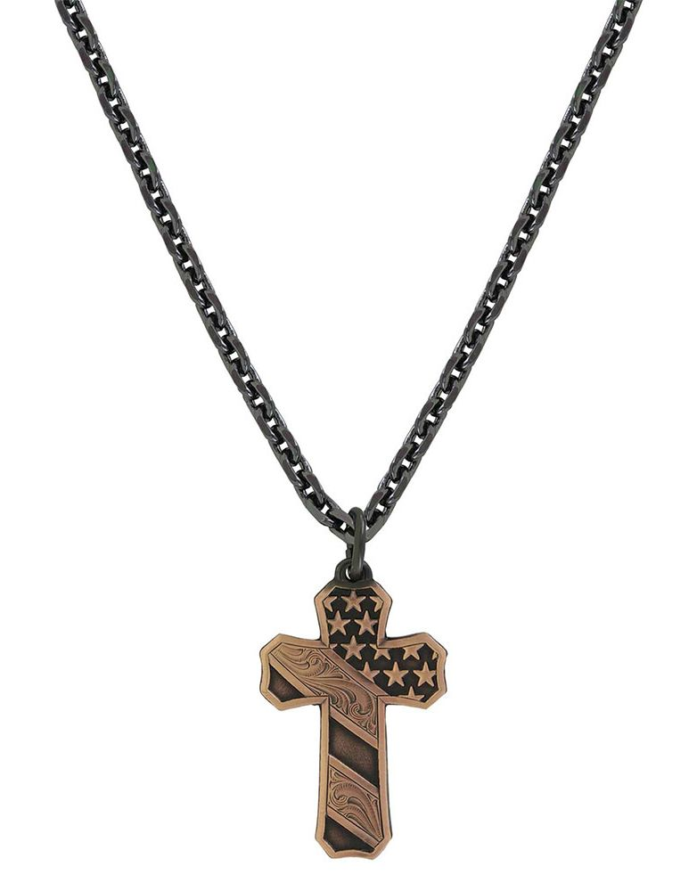 Montana Silversmiths Cross Necklace - Copper
