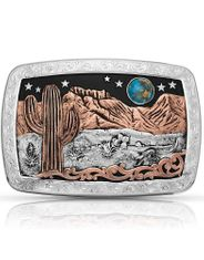 Montana Silversmiths Desert Moon Buckle Silver/Rose Gold