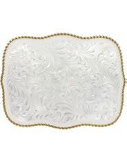 Montana Silversmiths Floral Engraved Buckle Silver/Gold