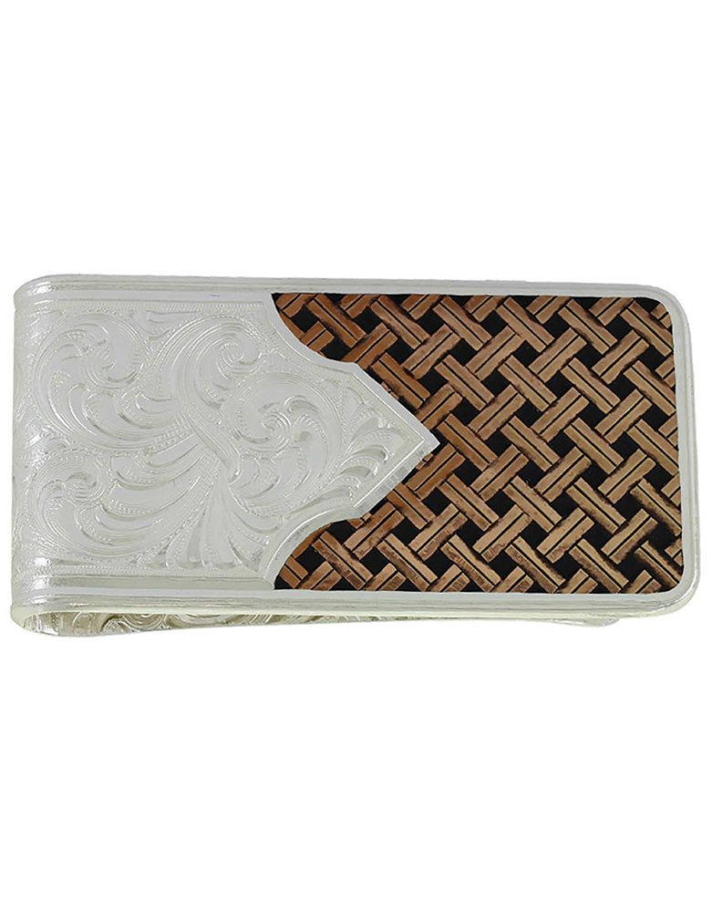 Montana Silversmiths Scrolled Weave Money Clip - Rose Gold/Silver