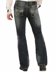 Rock & Roll Denim Men's Pistol Low Rise Regular Fit Boot Cut Jeans - Medium Wash