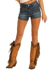 Rock & Roll Cowgirl Women's Extra Stretch High Rise Short - Medium Vintage