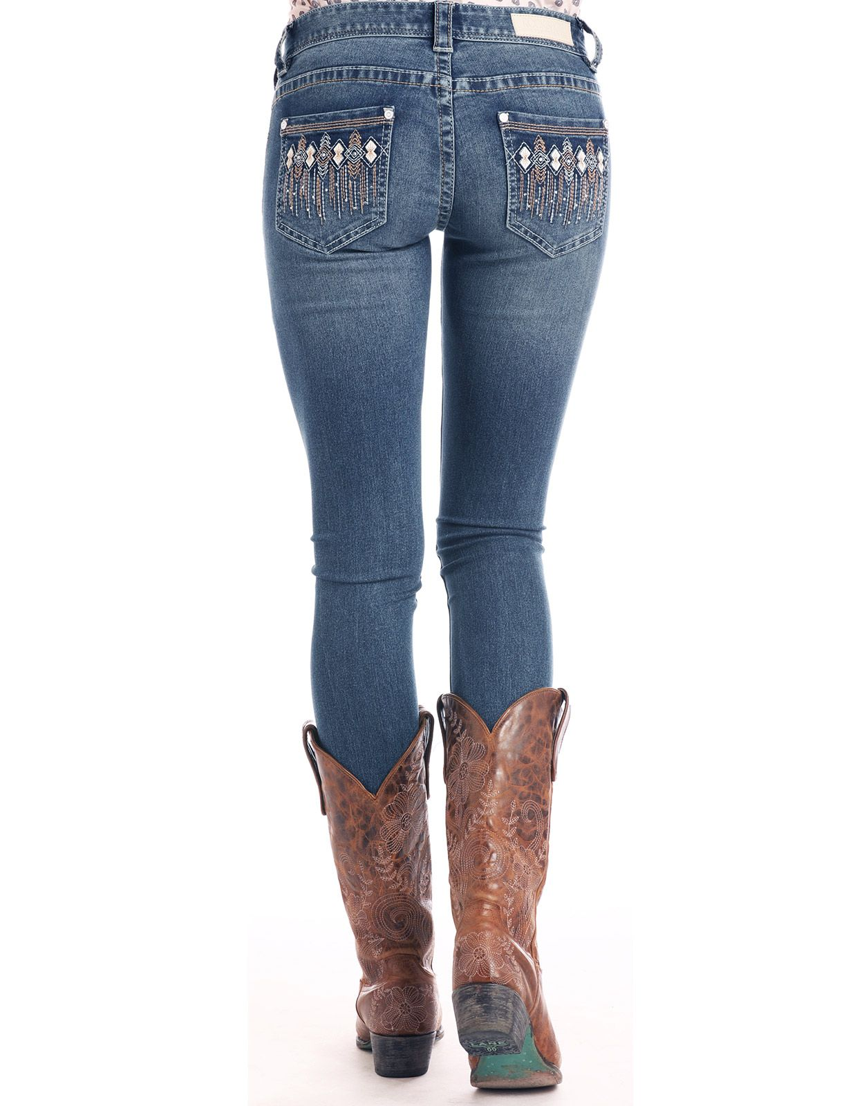Rock & Roll Cowgirl Women's Extra Stretch Rival Low Rise Skinny Jeans - Light Vintage (Closeout)
