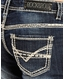 Rock & Roll Cowgirl Women's Stretch Riding Mid Rise Regular Fit Bootcut Jeans- Dark Vintage