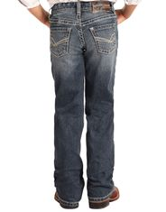 Rock & Roll Denim Boy's Reflex BB Gun Mid Rise Regular Fit Boot Cut Jeans-