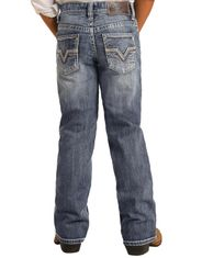 Rock & Roll Denim Boy's Reflex BB-Gun Mid Rise Regular Fit Boot Cut Jeans- Medium Vintage