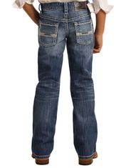 Rock & Roll Denim Boy's Reflex BB Gun Mid Rise Regular Fit Boot Cut Jeans- Medium Vintage