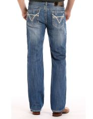 Rock & Roll Denim Men's Double Barrel Low Rise Relaxed Fit Straight Leg Jeans - Medium Wash