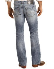 Rock & Roll Denim Men's Pistol Low Rise Regular Fit Boot Cut Jeans - Light Vintage