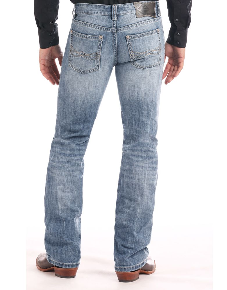 Rock & Roll Denim Men's Pistol Low Rise Regular Fit Straight Leg Jeans - Light Vintage (Closeout)