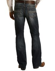 Rock & Roll Denim Men's Reflex Double Barrel Low Rise Relaxed Fit Boot Cut Jeans - Dark Vintage
