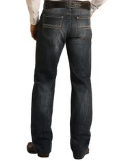 Rock & Roll Denim Men's Reflex Double Barrel Low Rise Relaxed Fit Straight Leg Jeans - Dark Vintage