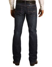 Rock & Roll Denim Men's Reflex Pistol Low Rise Regular Fit Straight Leg Jeans - Dark Wash