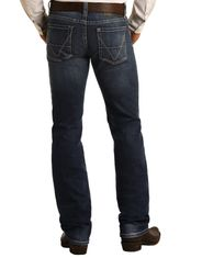 Rock & Roll Denim Men's Vintage 46 Reflex Revolver Low Rise Slim Fit Straight Leg Jeans - Dark Vintage