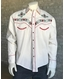 Rockmount Men's Long Sleeve Embroidered Snap Shirt - Ivory