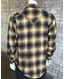 Rockmount Men's Long Sleeve Flannel Plaid Snap Shirt - Toast
