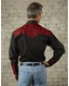 Rockmount Men's Long Sleeve Vintage Tool Embroidered Snap Shirt - Black/Red
