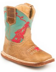 Roper Infants Barrel Racer Square Toe Boots - Tan