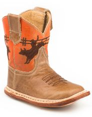 Roper Infants Bullrider Square Toe Boots - Tan