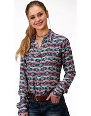 Roper Women's Long Sleeve Print Snap Shirt - Multi