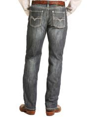Tuf Cooper Men's Reflex Competition Fit Mid Rise Relaxed Fit Straight Leg Jeans - Dark Vintage