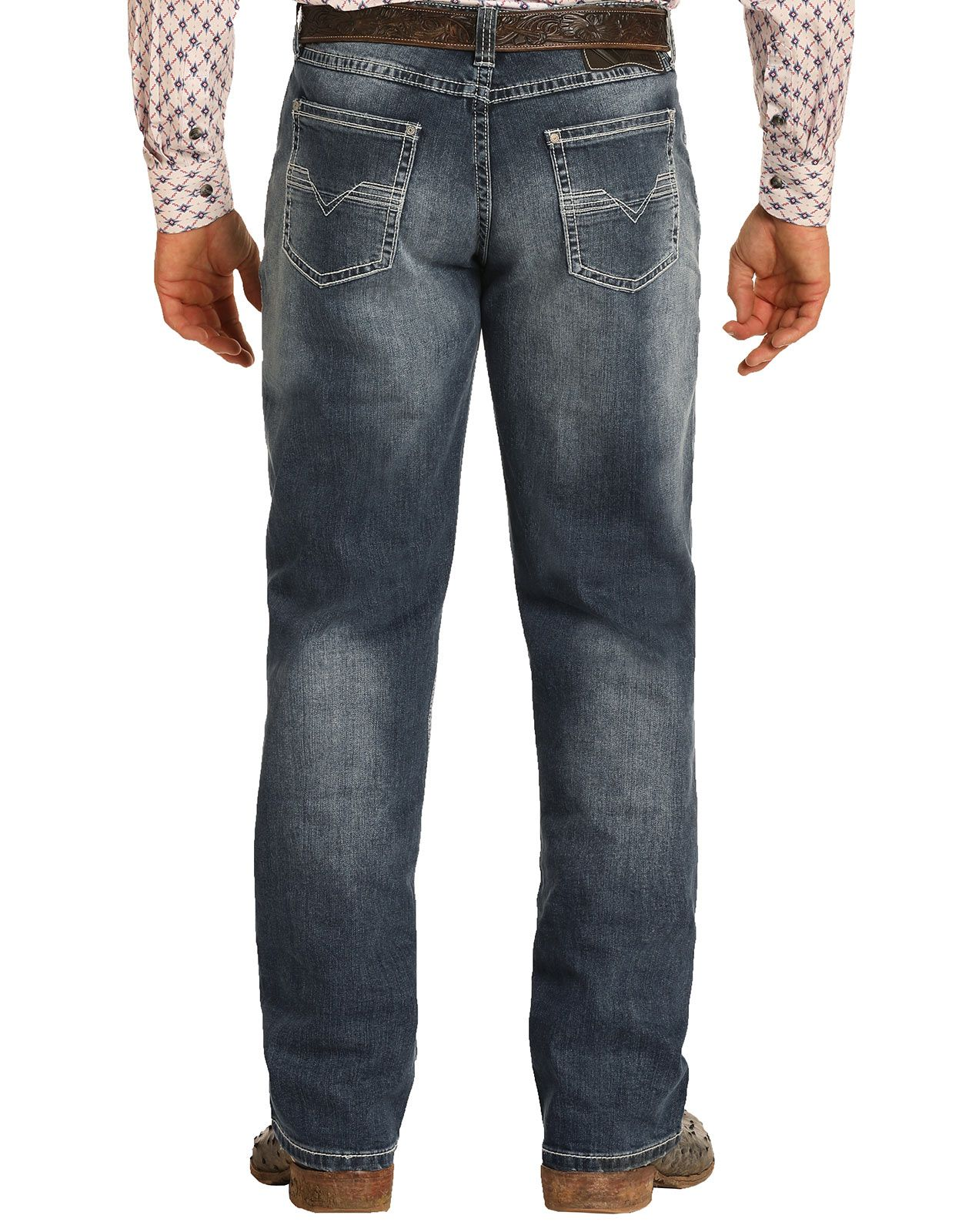 Tuf Cooper Men's Reflex Competition Fit Mid Rise Relaxed Fit Straight Leg Jeans - Medium Vintage (Closeout)