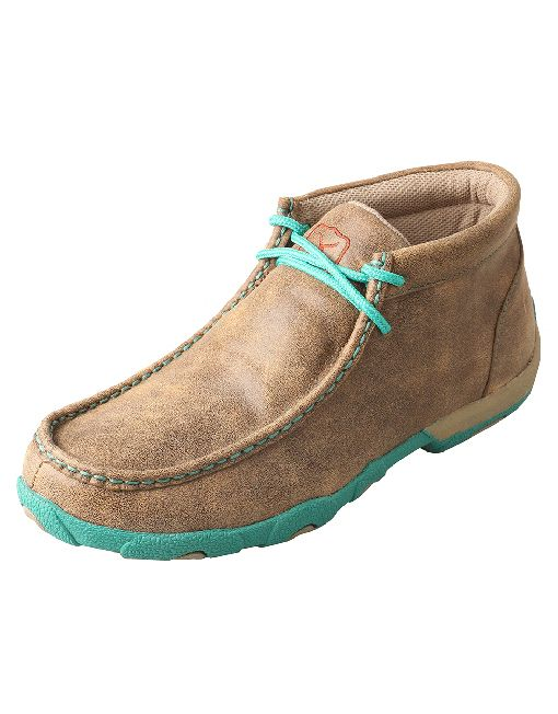 Twisted X Women's Driving Moc - Bomber/Turquoise