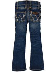 Wrangler Girl's Premium Patch Low Rise Regular Fit Boot Cut Jeans (Sizes 4-14) - MS Wash
