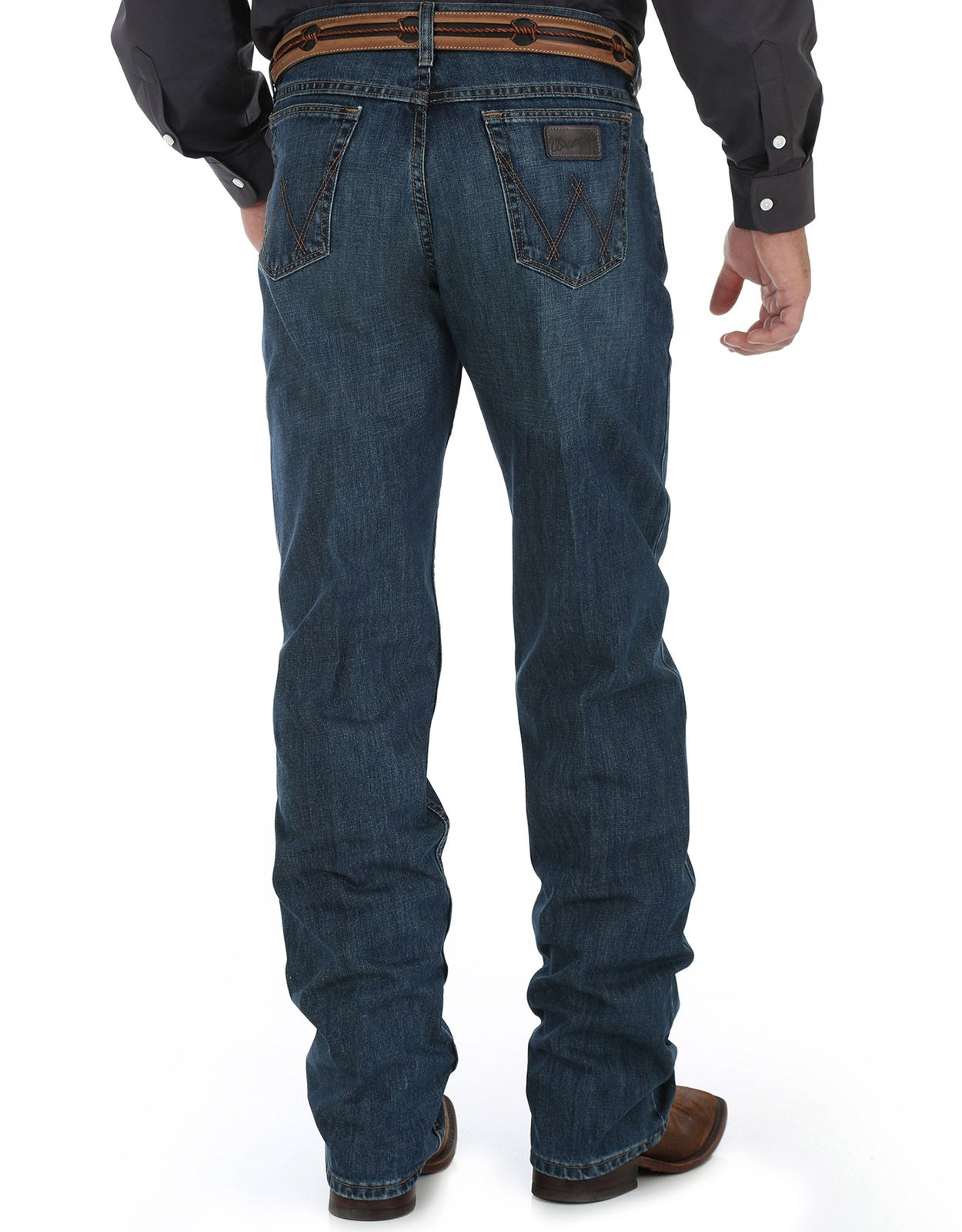 Wrangler Men's 01 Low Rise Relaxed Fit Boot Cut Jeans - River Wash