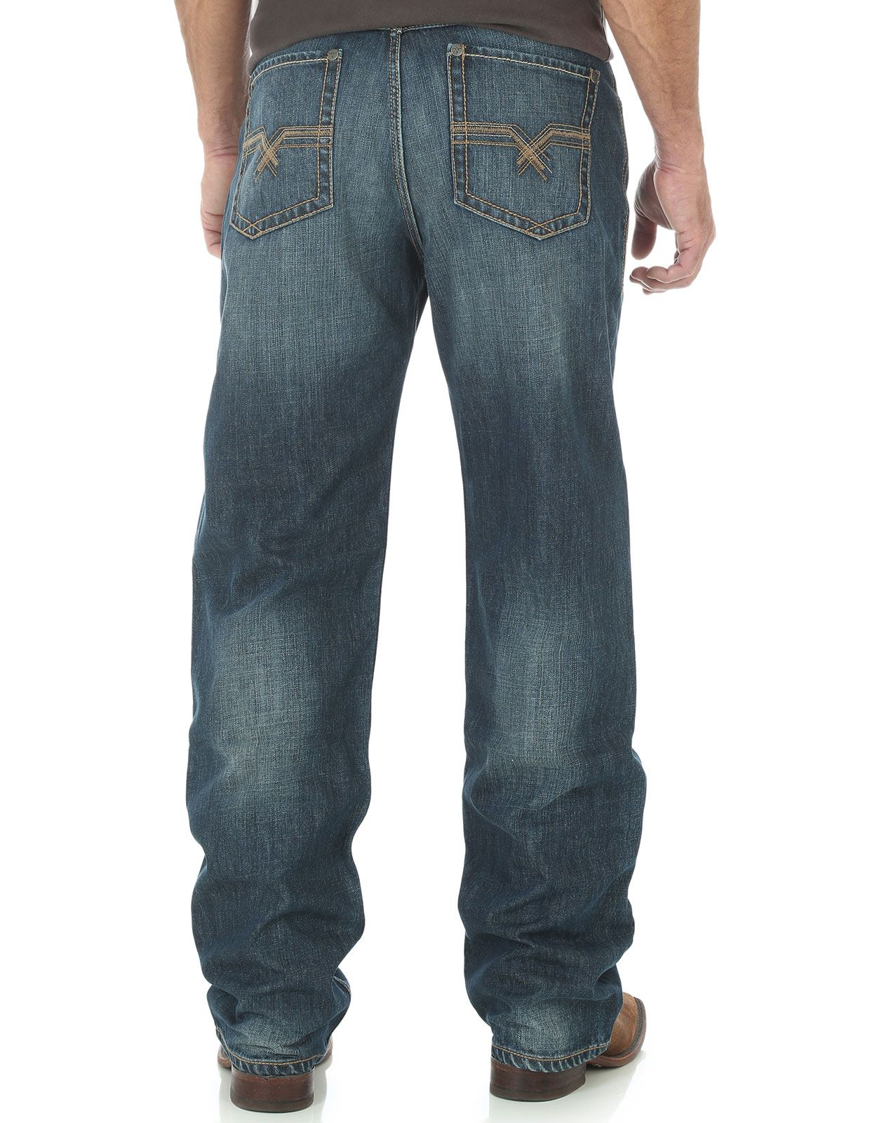 Wrangler Men's 20X 33 Extreme Mid Rise Loose Fit Straight Leg Jeans - Wells