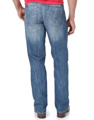 Wrangler Men's 20X 42 Vintage Boot Low Rise Slim Fit Boot Cut Jeans - Light Blue