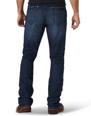 Wrangler Men's 42 Stretch Low Rise Slim Fit Boot Cut Jeans - Stockyard