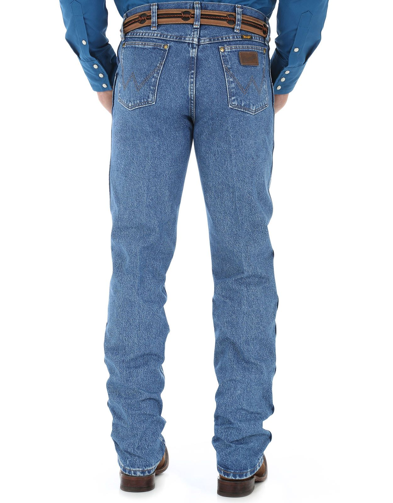 Wrangler Men's 47 Mid Rise Regular Fit Boot Cut Jeans - Stonewash
