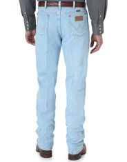 Wrangler Men's 936 Cowboy Cut High Rise Slim Fit Boot Cut Jeans - Bleach
