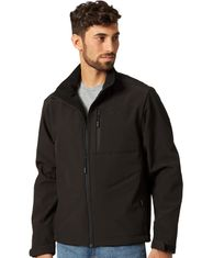 Wrangler Men's Bonded Concealed Carry Zip Trail Jacket - Black