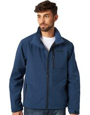 Wrangler Men's Bonded Concealed Carry Zip Trail Jacket - Navy